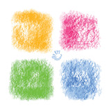 Four old painted vector backgrounds