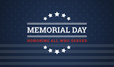 Memorial Day background - Honoring all who served banner vector illustration - 200103227