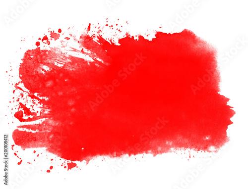 Tło akwarela czerwony