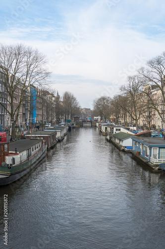 Fotobehang Amsterdam Gracht in Amsterdam, Netherlands