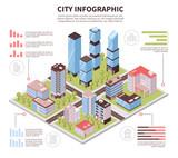 City Infographic Poster Isometric  - 200119450