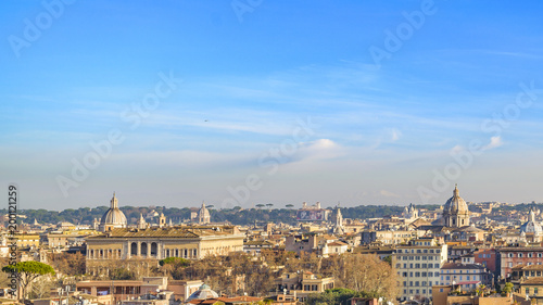 Fotobehang Rome Rome Cityscape Aerial View from Trastevere Hill