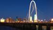 Bridge into Dallas at night