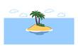 Einsame Insel als Paradies für Urlaub
