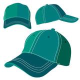 Emerald green cap on white background. Vector illustration Eps10 file - 200140464