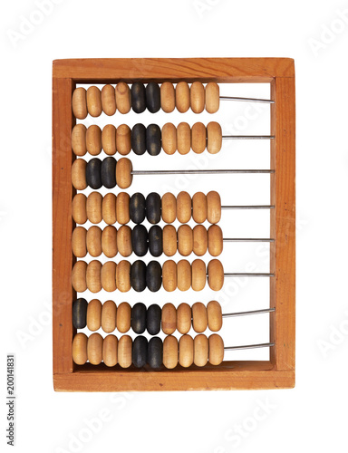 wooden abacus isolated on white - 200141831