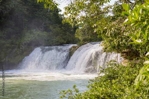 Waterfall In Rio Blanco National Park Belize