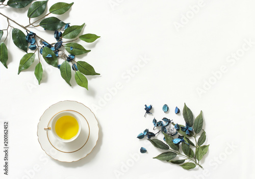 Foto Murales Mockup of healthy lifestyle with green tea