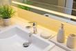Sink decoration in bathroom