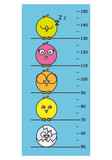 children meter wall. Cute birds