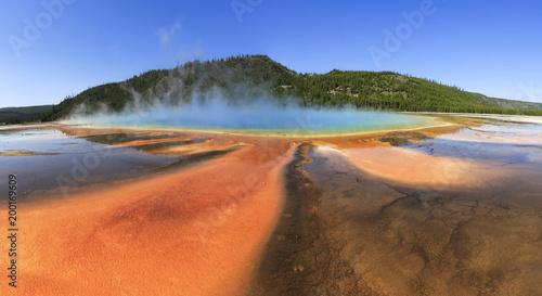 Foto op Plexiglas Oranje eclat Grand Prismatic Pool at Yellowstone National Park, Wyoming, USA, ,