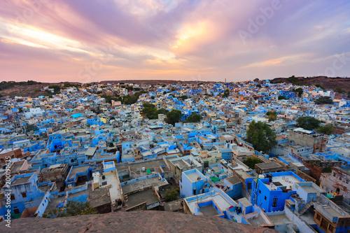 Foto Murales blue city - jodhpur cityscape in rajasthan, india