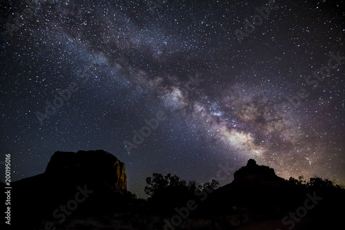 Foto op Canvas Arizona Milky Way Over Bell Rock and Courthouse Butte - near Sedona, Arizona