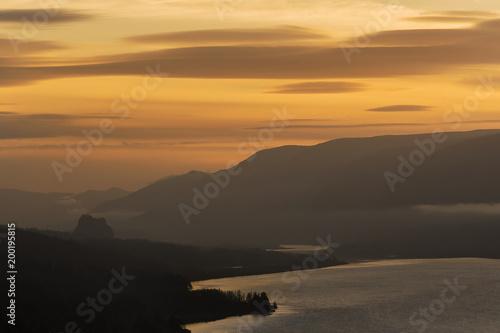 In de dag Ochtendgloren Goldenhour Gorge