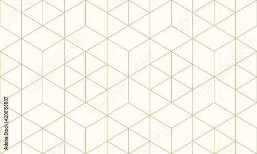 Pattern geometric gold line seamless luxury design abstract background. - 200195887