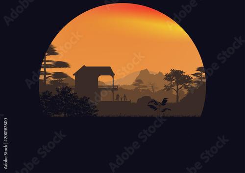 Foto op Plexiglas Zwart landscapes