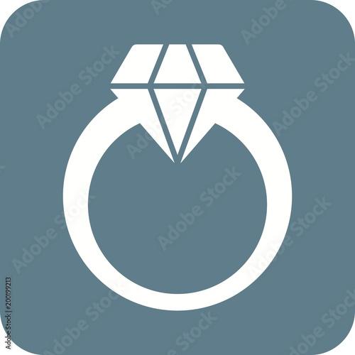 Ikona pierścionek z brylantem