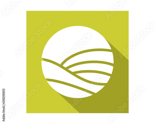 circle field harvest agriculture farmer image vector logo symbol icon