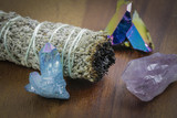 White Buffalo Sage with Beautiful Crystals - 200212898