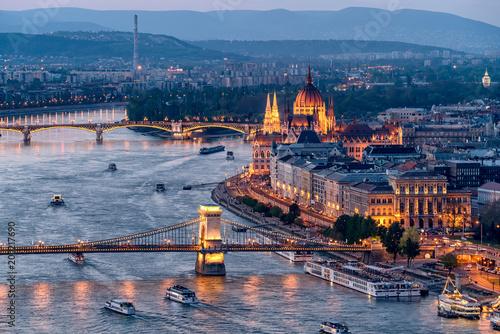 Fotobehang Boedapest Budapest Sunet
