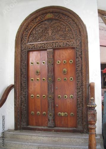 Zanzibar, Zanzibar City, historic door in Stone Town, Old Town - 200221625