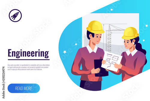 Engineering Flat Background