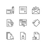 Outline icons. Documents - 200226864