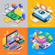 Financial Security Isometric Set
