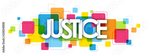 JUSTICE Colourful Letters Icon