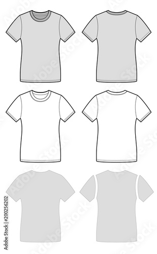 T Shirt Fashion Flat Template