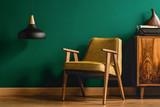 Yellow armchair and retro typewriter - 200260680