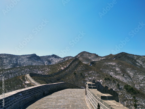 Foto op Plexiglas Peking Great Wall of China. Badaling Ancient Great Wall close to Beijing.