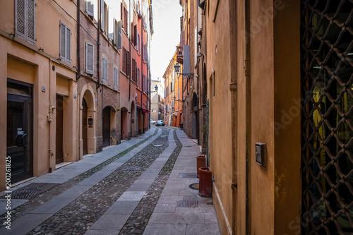Plexiglas Smalle straatjes Old Street in Italy