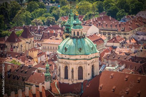 Poster Praag Czech Rooftops