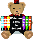 Welcome back to school bear