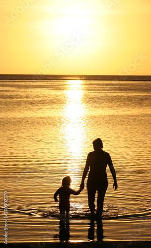 Fotobehang Zee zonsondergang sunset dip