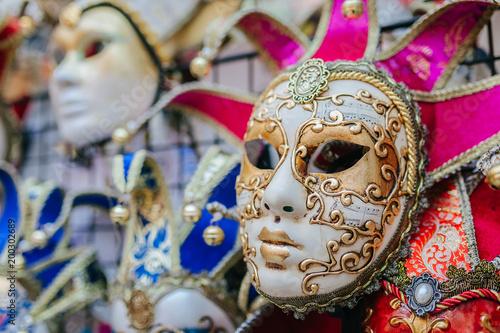 Foto op Plexiglas Venetie Carnival mask in Venice, Italy
