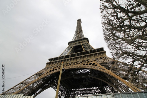 Foto op Plexiglas ParijsEiffel tower in Paris in France