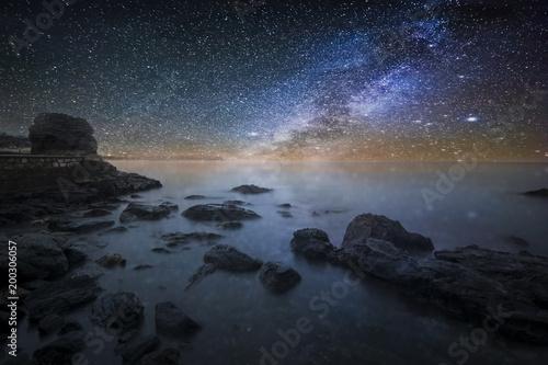 Fotobehang Zee zonsondergang Mar colorido