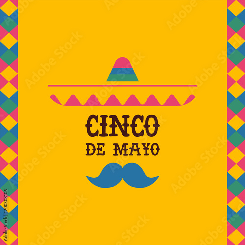 Cinco de mayo mexican mariachi sombrero quote card