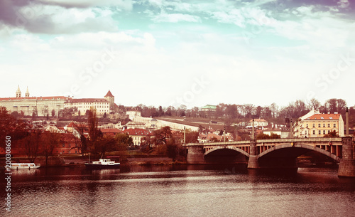 Poster Praag Day view of Prague