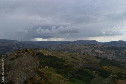 Fotobehang Donkergrijs Natura paesaggi e monti