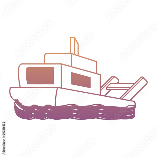 ikona statku na białym tle, kolorowy design. ilustracji wektorowych