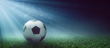 Fußball auf dem Spielfeld