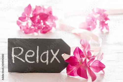 Hydrangea Blossom, Text Relax - 200342682