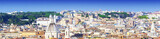 Panoramic view of the city of Rome, Italy