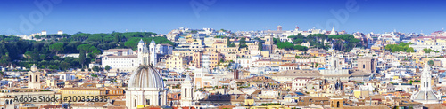 Foto op Plexiglas Rome Panoramic view of the city of Rome, Italy