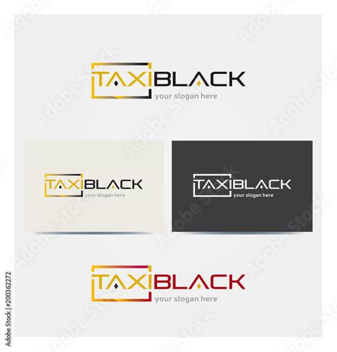 Taxi Van Multicolore Icon Wizytówka i karta graficzna firmowa