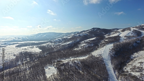 Foto op Plexiglas Grijs ural ridge