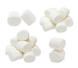 Marshmallows set isolated on white background - 200367082